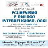 L'Ecumenismo e il Dialogo Interreligioso oggi. L'incontro organizzato dall'Associazione Ablondi
